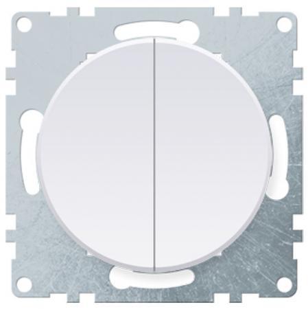Механизм выключателя 2-кл ONEKEYELECTRO 1E31501300 СП Florence 10А IP20 бел