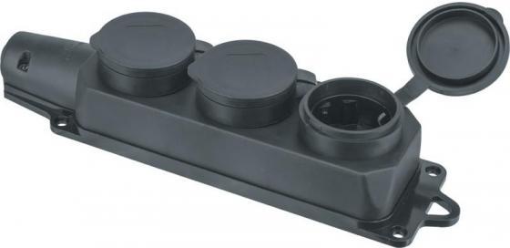 Колодка NAVIGATOR 61372 3-м с заземлением каучук черная