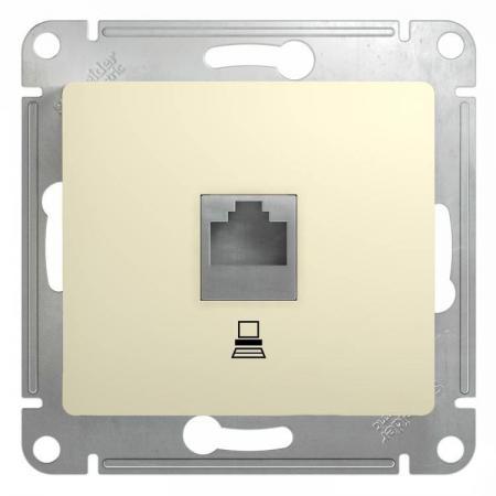 цены Механизм розетки SCHNEIDER ELECTRIC GSL000281K Glossa комп. 1-м rj45 беж.