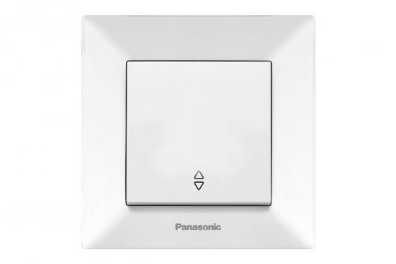 Переключатель PANASONIC WMTC0003-2WH-RES Arkedia 1кл проходной белый