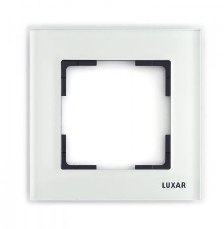 Купить Рамка LUXAR Art 15.901.20 на 1 пост белое стекло