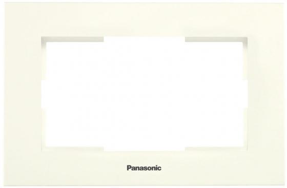 Рамка PANASONIC WKTF0809-2BG-RES Karre Plus для 2-й розетки крем