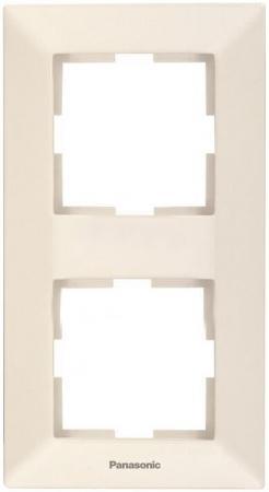 Рамка PANASONIC WMTC0812-2BG-RES Arkedia 2м вертикальная крем диммер panasonic wmtc0525 2bg res arkedia