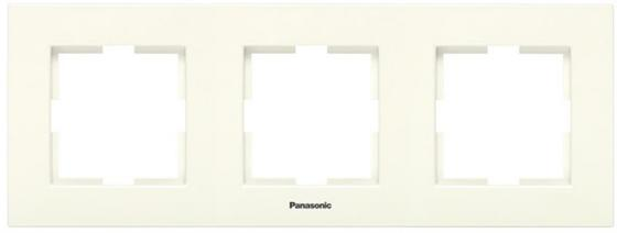 Рамка PANASONIC WMTF0803-2BG-RES Arkedia 3м горизонтальная крем диммер panasonic wmtc0525 2bg res arkedia