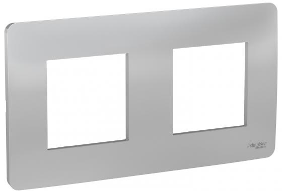 Рамка SCHNEIDER ELECTRIC NU200430 unica studio 2-постовая алюминий рамка 2 постовая вертикальная schneider electric sedna sdn5801147