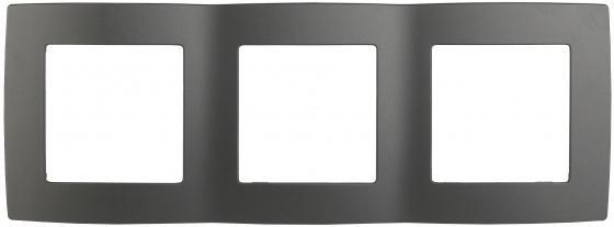 Рамка ЭРА 12-5003-12 на 3 поста, Эра12, графит лампочка lightstar hal ls 922961
