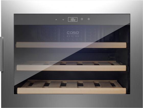лучшая цена Винный шкаф CASO WineSafe 18 EB Inox серебристый черный