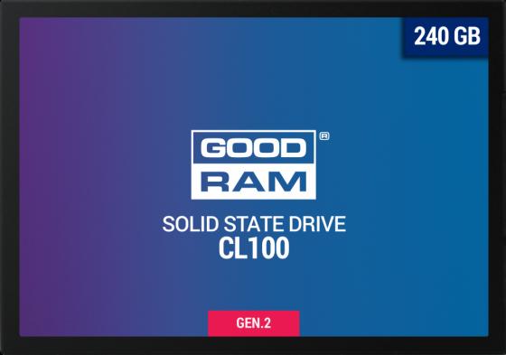 "Твердотельный накопитель SSD 2.5"" 240 Gb Goodram SSDPR-CL100-240-G2 Read 520Mb/s Write 400Mb/s TLC цена и фото"