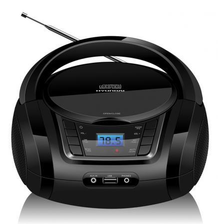 лучшая цена Аудиомагнитола Hyundai H-PCD320 черный 4Вт/CD/CDRW/MP3/FM(dig)/USB/BT/SD/MMC/microSD