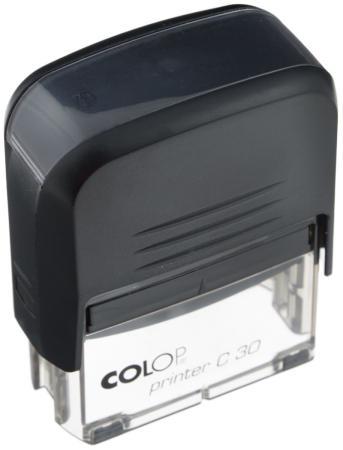 Самонаборный штамп Colop Printer C30/1 Set пластик черный штамп стандартный colop printer c20 1 46 слово дубликат 520393