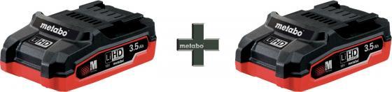 Набор аккумуляторов Metabo 18B LiHD T0346 3.5Ah x2 шт аккумулятор metabo lihd18v 5 5ач 625368000