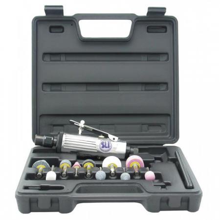цена на Пневмошлифмашина SUMAKE ST-P7732МК с набором шарошек в пластиковом кейсе, 368 л/мин