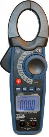 Клещи токовые CEM DT-3368 для измерения пост./перем. тока клещи cem dt 338 электроизмерительные