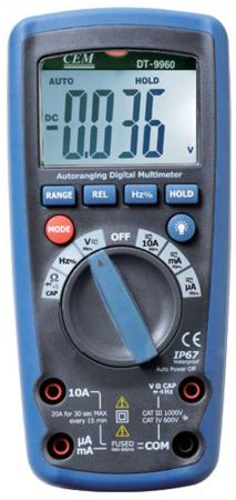 Мультиметр CEM DT-9963 40мом ёмкость 1000мкф мультиметр cem dt 932n цифровой true rms