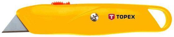 Нож TOPEX 17B140 с трапециевидным лезвием металлический корпус боковые кусачки topex 160 мм 32d106