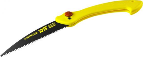 Ножовка STAYER 15085 МАХСut складная, 160 мм, 8TPI, 3D японский зуб, тефлон покрытие пила складная harden 631301 универсальная зуб 3d 18 см