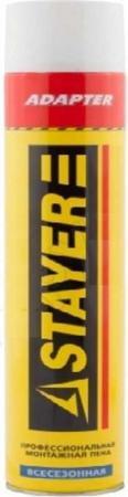 Пена монтажная STAYER 41133 750мл адаптерная полиуретановая всесезонная цены
