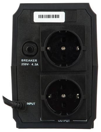 Exegate EP276528RUS ИБП Power Back BNB-650  <650VA, Black, 2 евророзетки>