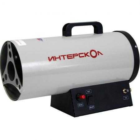 Тепловая пушка газовая Интерскол ТПГ-15 15000 Вт серый чёрный тепловая электропушка интерскол тпэ 3