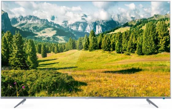 "Телевизор LED TCL 55"" L55P6US Metal серебристый/Ultra HD/60Hz/DVB-T/DVB-T2/DVB-C/DVB-S/DVB-S2/USB/WiFi/Smart TV (RUS) телевизор led sony 55 kd55xd8005br2 черный серебристый ultra hd 400hz dvb t dvb t2 dvb c dvb s dvb s2 usb wifi smart tv"