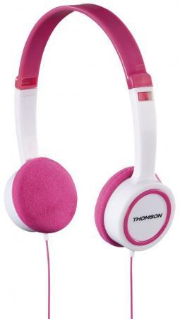 Наушники Thomson HED1105P розовый белый