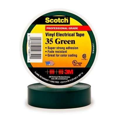 цена на Лента 3M Scotch 35 7000031669 изоляционная ПВХ 19x20000мм зеленый