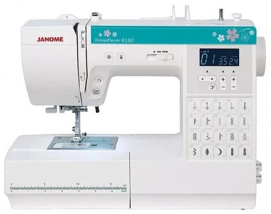 Швейная машина Janome HomeDecor 6180 белый/зеленый цена и фото