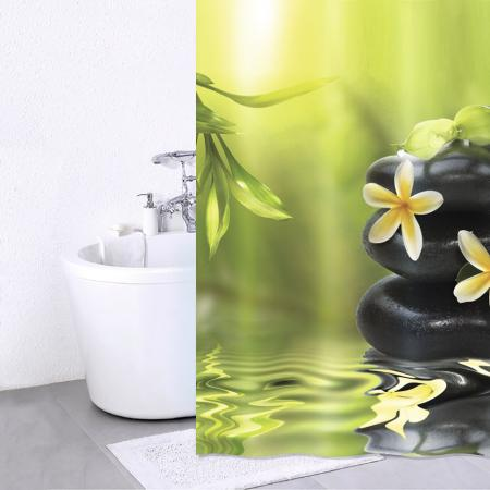 Штора для ванной комнаты Iddis Spa Therapy 180х200см, полиэстер 680P18Ri11 тумба для ванной комнаты с раковиной iddis cal80w0i95 0066000i28