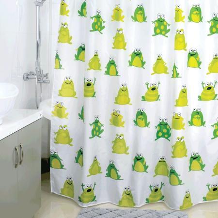 Штора для ванной комнаты Milardo Frogs Pool штора для ванной dolphins milardo 180 180см