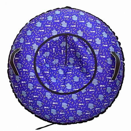 Надувные санки RT Собаки Королевы до 120 кг ПВХ синий рисунок