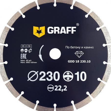 Круг алмазный GRAFF GDD 18 230.10 Ф230х2.6х22мм сухой рез сегментный по бетону цена и фото