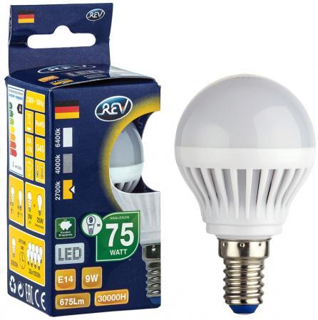 Лампа светодиодная шар Rev ritter 32406 5 E14 9W 2700K лампа светодиодная груша rev ritter 32334 1 e27 5w 2700k
