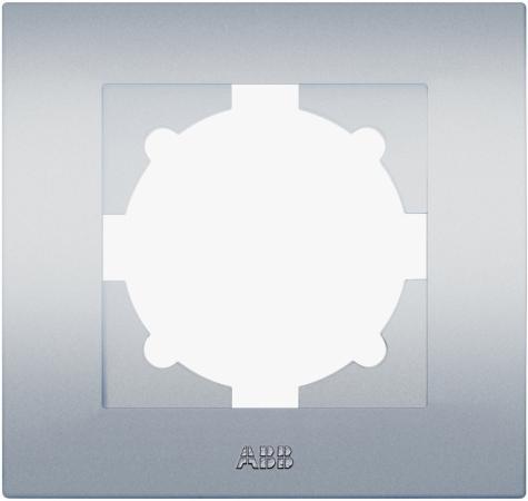 Рамка ABB COSMO 612-011000-271 алюминий 1 постовая