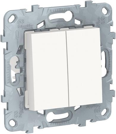 Переключатель SCHNEIDER ELECTRIC NU521518 unica new 2-клав перекрестный 2 x сх. 7 10 ax 250 в белый