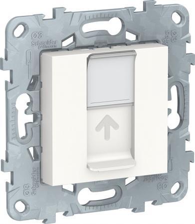 Розетка SCHNEIDER ELECTRIC NU541118 unica new компьютерная rj45 одиночная кат. 5е utp белый