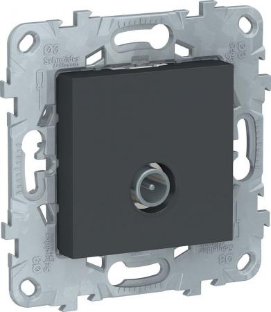 Розетка SCHNEIDER ELECTRIC NU546254 unica new tv одиночная антрацит