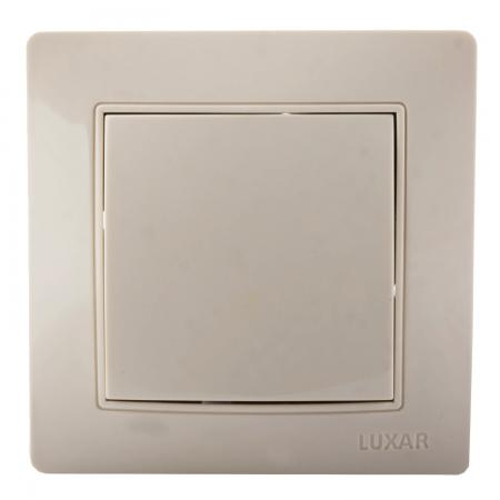 Выключатель LUXAR Novo 02.001.04 с/у 1-кл. кремовый, 250В 10А