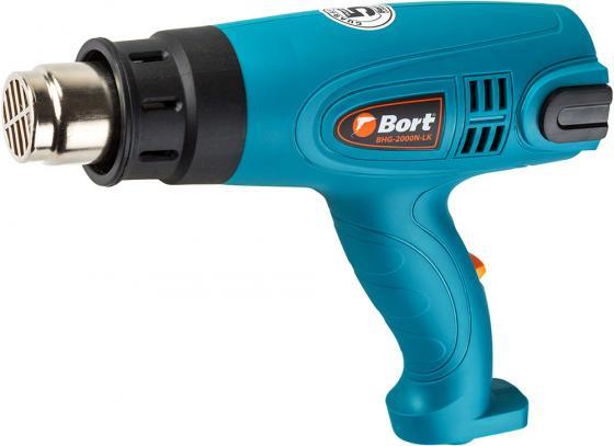 цены Bort BHG-2000N-LK Фен технический [91275431] { 2000 Вт, 3 режима, 500 л/мин, 0.8 кг, 4 насадки, Дисплей LED }