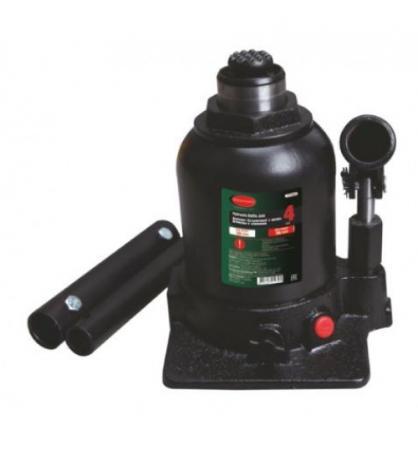 Домкрат ROCK FORCE RF-TF0802 гидравлический бутылочный с двумя штоками и клапаном 8т