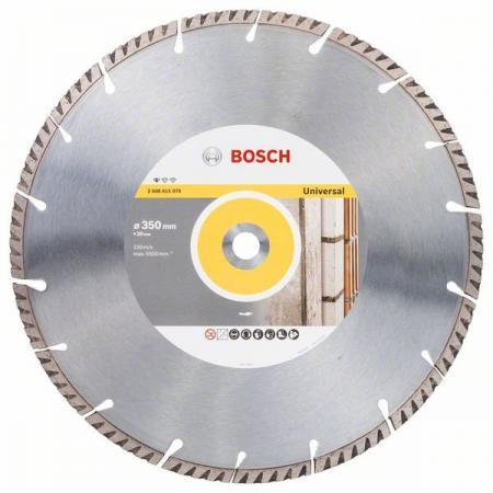 Круг алмазный BOSCH 2608615070 Ф350х22мм сухой рез турбо универсальный недорго, оригинальная цена