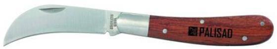 Нож PALISAD 79001 садовый 170мм складной изогнутое лезвие дерев.ручка нож palisad 79003 садовый 173мм складной прямое лезвие дерев ручка