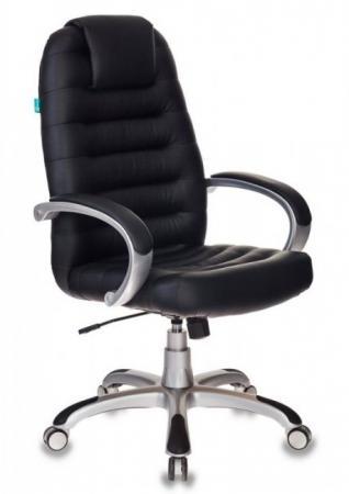 Кресло руководителя Бюрократ T-9903S/BLACK черный искусственная кожа (пластик серебро) кресло руководителя бюрократ t 9910n black черный искусственная кожа пластик серебро