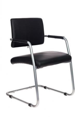 лучшая цена Кресло Бюрократ CH-271-V/SL/OR-16 черный зеркальный хром искусственная кожа
