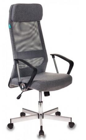 Кресло руководителя Бюрократ T-995HOME/GREY серый TW-04+ 10-128 сетка/ткань крестовина металл цена и фото