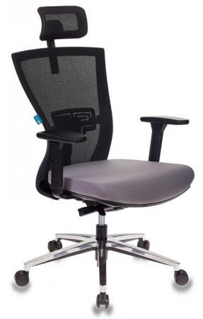Кресло руководителя Бюрократ MC-815-H/B/FB02 спинка сетка черный сиденье темно-серый сетка/ткань крестовина алюминий стул бюрократ вики dg 15 13 спинка сетка темно серый сиденье темно серый 15 13
