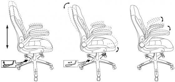Кресло руководителя Бюрократ CH-825A/BLACK+RD вставки красный сиденье черный искусственная кожа (пластик серебро) кресло руководителя бюрократ ch 868axsn red сиденье красный искусственная кожа пластик темно серый