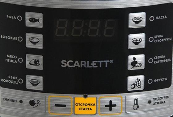 Мультиварка-скороварка Scarlett SC-MC410P02 5л 900Вт нержавеющая сталь/черный мультиварка scarlett sc mc410s18 5л 860вт серебристый белый