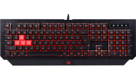 лучшая цена Клавиатура проводная A4TECH Bloody B125 USB черный