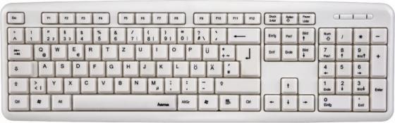 Клавиатура проводная HAMA Verano USB белый R1053931 hama verano белый