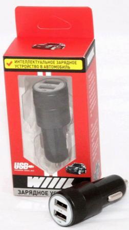 Фото - Автомобильное зарядное устройство Wiiix UCC-2-10B 2.1A 2 х USB черный автомобильное зарядное устройство orico ucl 2u bk 2 х usb 1 2 4 а черный